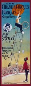 Vintage French circus poster - Le Grands Cirques Francais